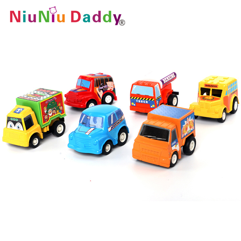 6pcs/lot Pull Back Car Toys Car Children Racing Car Baby Mini Cars Cartoon back of the car Super Street Car Free Shipping(China (Mainland))