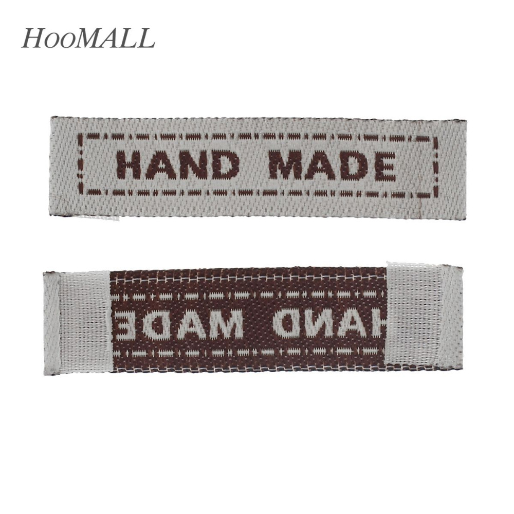 Hoomall Brand 100PCs Handmade Clothing Care Labels Custom Private Brand Washable Label Cloth Woven Labels Garment Tags Labels(China (Mainland))