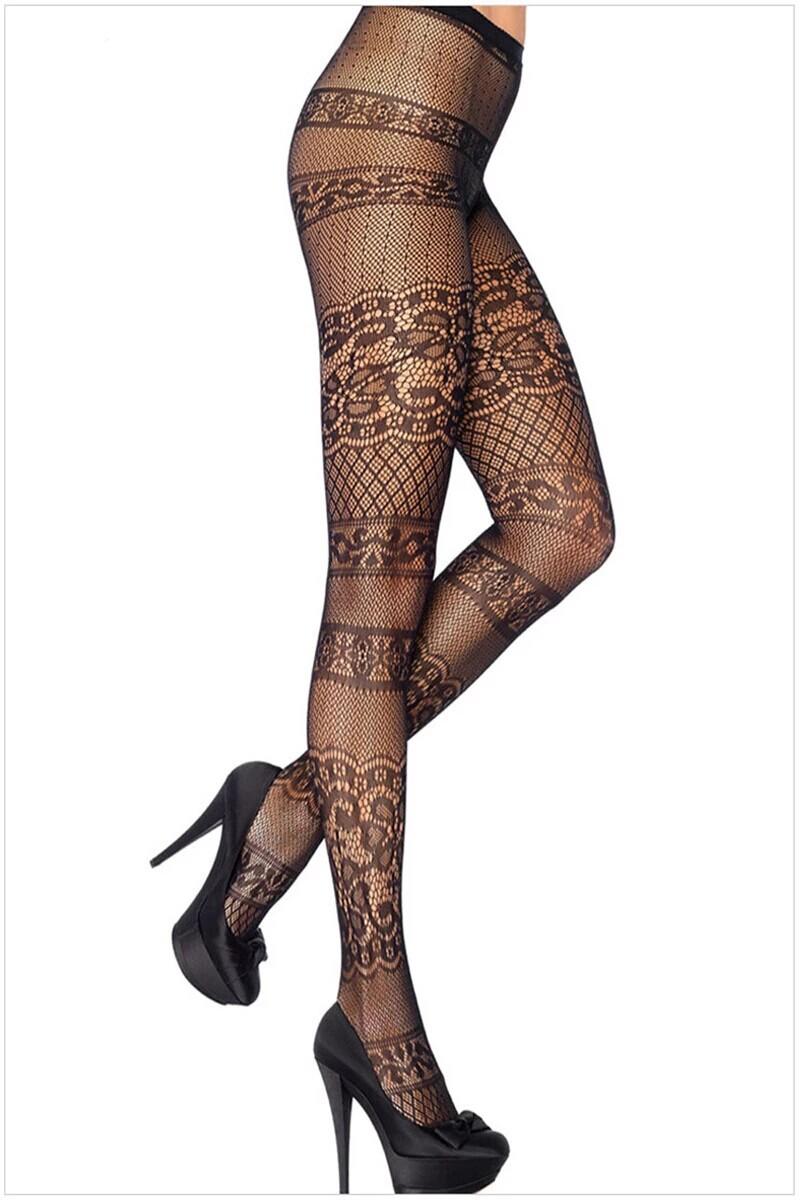 Hot Sexy Women Lace Lingerie Black Nylon Pantyhose Fishnet Hosiery Stockings Tights(China (Mainland))