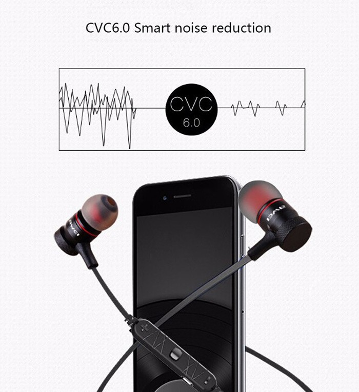 Awei A920BL Smart Wireless Sport Earphone Bluetooth 4.0 Sports Stereo In-ear Earphone Voice control Noise Reduction with Mic