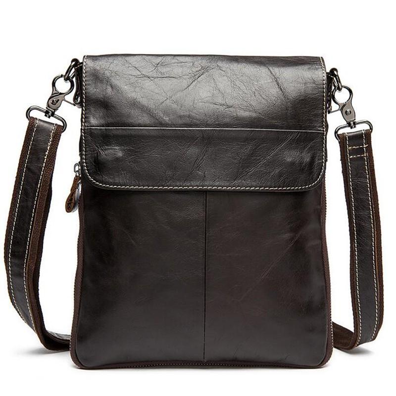 100% Genuine Leather men bags Ipad shoulder cowhide leather bags men's briefcase vintage men Messenger bag Shoulder Bag QT2127