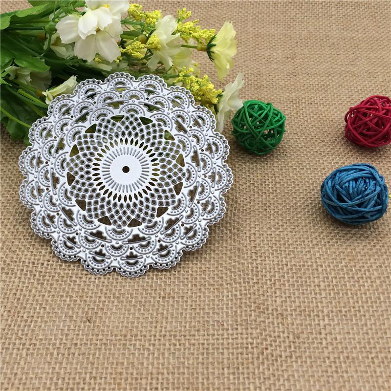 Delicate Floral Pattern Design Metal Die Cutting Dies Scrapbooking Embossing Die Cut Stencil DIY Decoative Wedding Cards