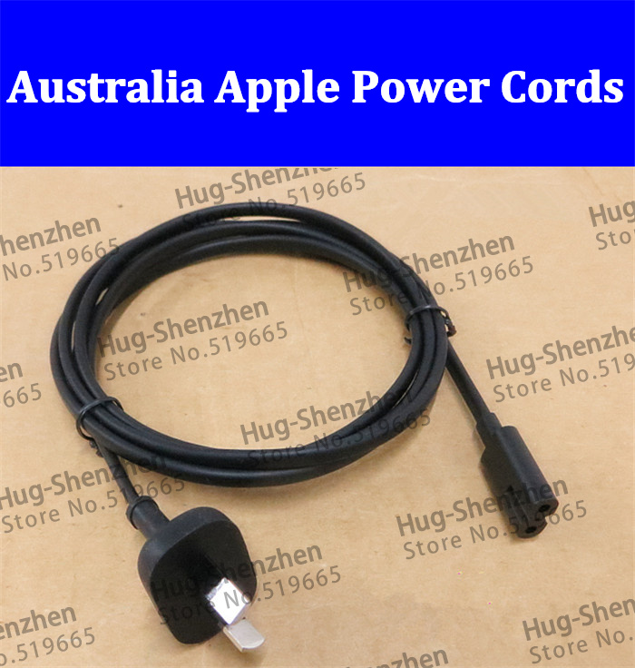 High quality Australia 2-Prong Port AC Power Cord Cable For Mac Mini Router for apple TV PS2 PS3 Slim Power Cable--5pcs(China (Mainland))