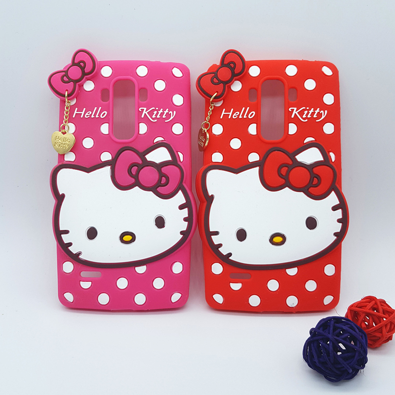 New 3D Cartoon Hello Kitty Case Soft Silicon Back Cover for LG G Stylo LS770 G4 Note G4 Stylus G4+ Rubber Phone Shell(China (Mainland))