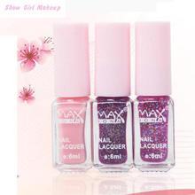 Nail Polish 3PCS/SET Maxdona change Nail Polish 3 Color Gradient Cocktail Magic Nail Gel 6ml*3 DIY Nail Art Quick Dry(China (Mainland))