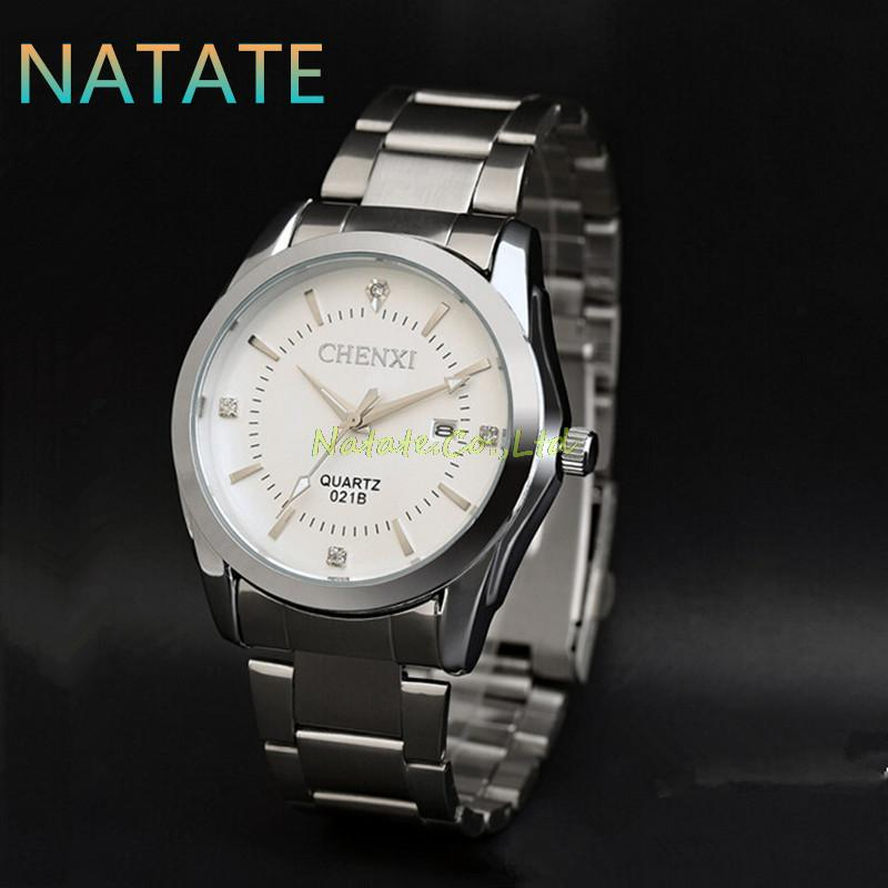 NATATE Fashion Men Rhinestone Calendar Luxury CHENXI Brand Business watch Stainless Steel Strap Quartz Analog Sports watch 1140<br><br>Aliexpress