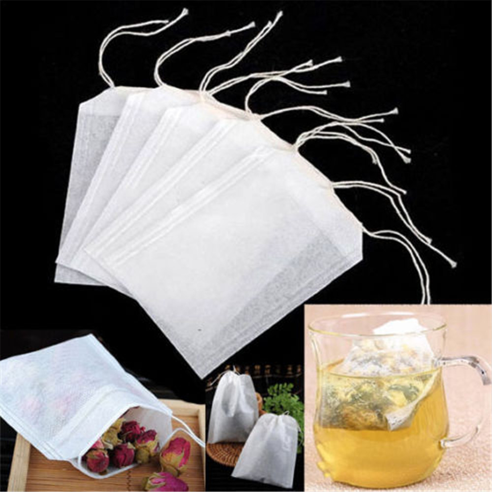 100Pcs/pack Teabags Empty Tea Bags With String Heal Seal Filter Paper Accessories for Herb Loose Tea Free Shipping Wholesale(China (Mainland))