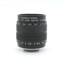 35mm f1.7 C Mount CCTV camera Lens for GH1 GF1 3 5 E mount  free shipping(China (Mainland))