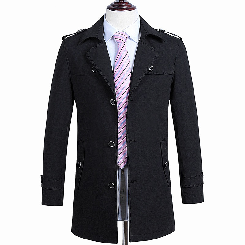 2016 new spring autumn trench coat Men single Breasted Trench Coat Men Outerwear Casual Coat Men's Jacket Windbreaker PLUS-SIZE(China (Mainland))