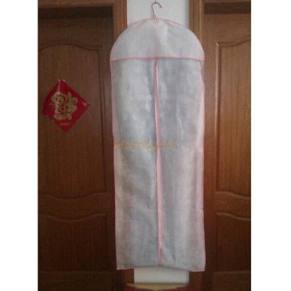 Anti Dust Clothes Cover Bag Bridal Wedding Dress Gown Garment Bag Protector Storage Carry Bag(China (Mainland))
