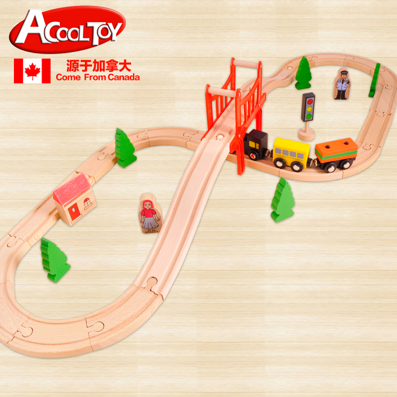 HOT Acool Toy High Quality DIY Thomas And Friends Wooden Train Railway Toys(China (Mainland))