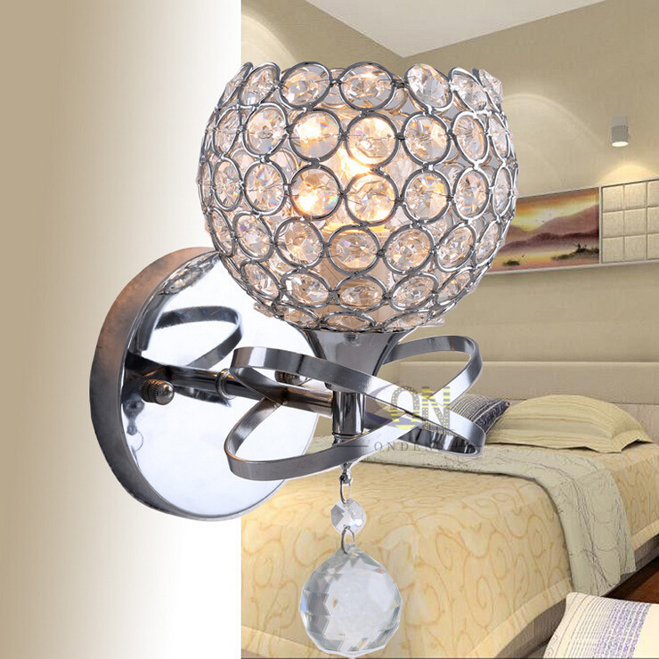 Modern style Wall Lamps bedside lamp Bedroom Stair lamp Crystal wall Lights e14 Led single ...