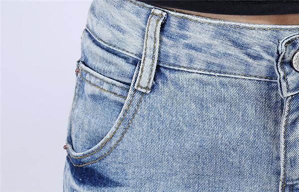 Скидки на Женщины Карандаш Капри Моды Джинсовые Брюки Джинсы QPD000234-1