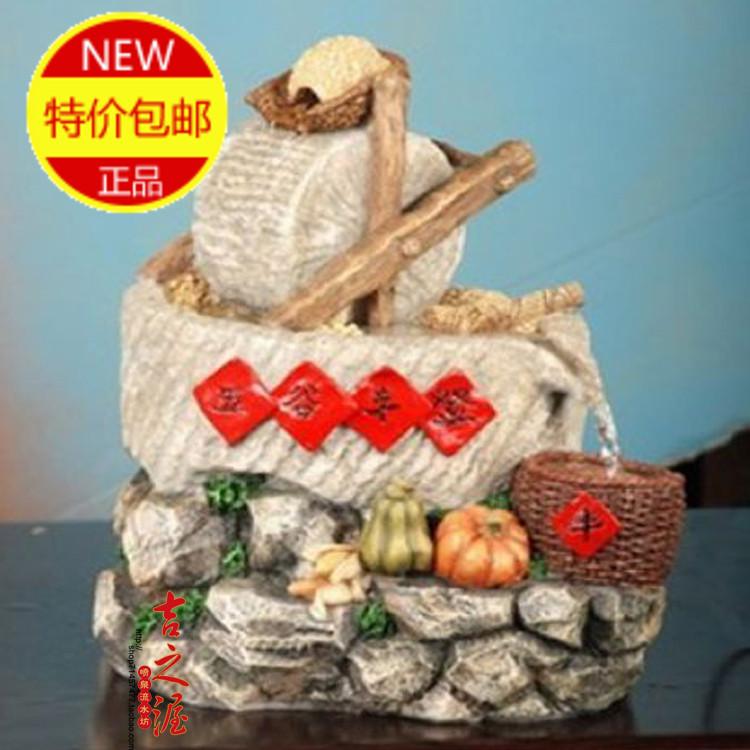 Mobiliário de casa fonte de água apresenta um amortecedor da safra de grãos sorte decoração Feng Shui decoração fonte bonsai artesanato humi(China (Mainland))
