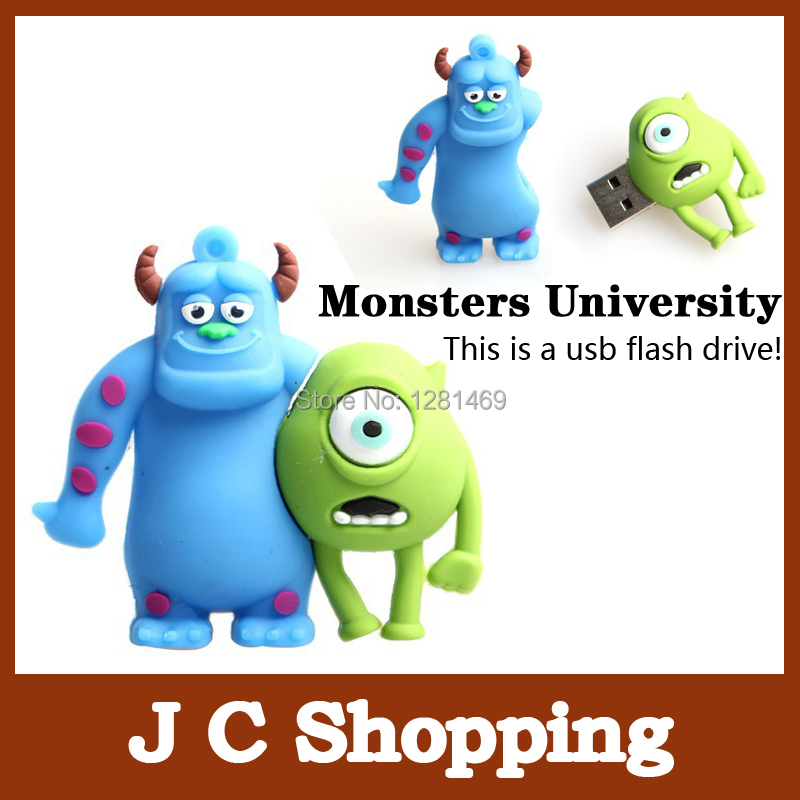 E-DREAM Wholesale cheap Cartoon Monsters University model 4GB 8GB 16GB 32GB USB Flash Drive Thumb/Car Pen drive Personality Gift(China (Mainland))