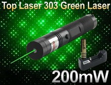 Lazer 303 Green Laser Pointer Pen Adjustable Focus 532nm Beam Laser 303 Laser Flashlight +4000MAH 18650 Battery+charger(China (Mainland))