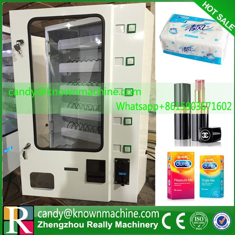 Smaller snack /candy vending machine,condoms candy dispenser with coin acceptor with cheaper price