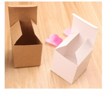 50 Pcs Kraft Paper Square Cookie case Cake Gift Box Birthday Party Wedding Christmas packaging