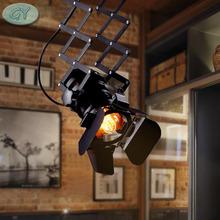 Лофт RH сельских промышленного подъема потолочный светильник бар одежда личности ретро трек старинные поглощают свет купола с E27 лампа