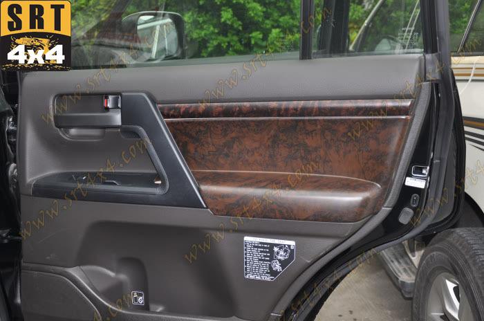 Interior Door Wooden Covers Trim For Toyota Land Cruiser 200 Accessories 2008 2014