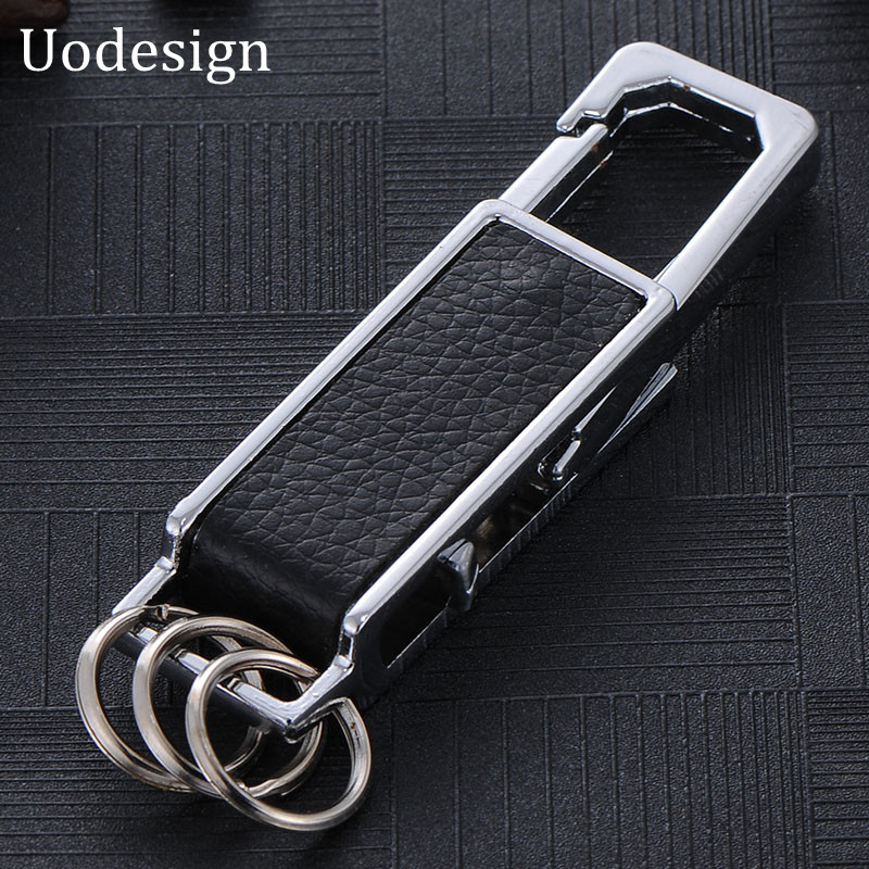 Creative Men Chrysler keychain key chain Leather keychain Key Ring Car Key Chains For Men 2017 Silver Plated Key(China (Mainland))
