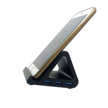 USB 3.0 4 Port Hub with Aluminum Alloy Body Cell Phone Dock & Cable & USA Power 5Gbps Supper Speed