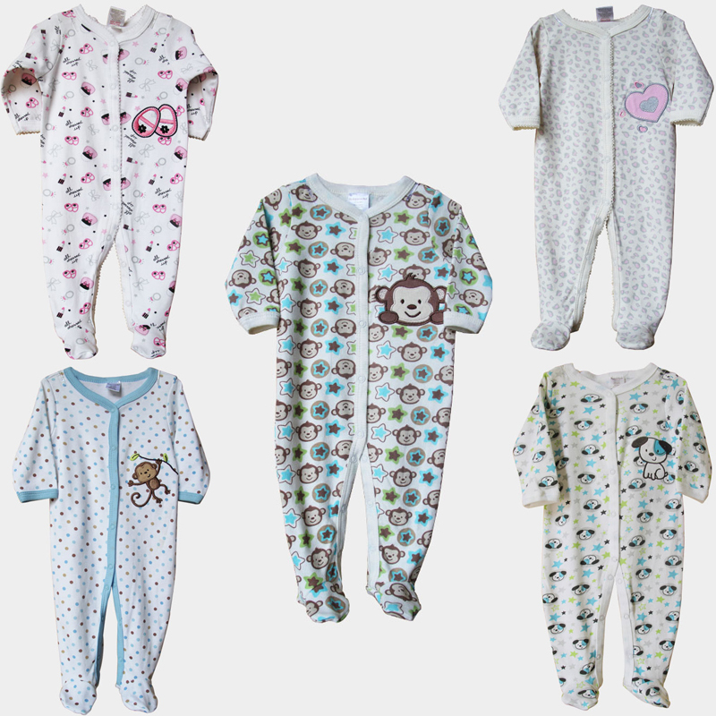 New Baby Clothes Children Pajamas Newborn Baby Rompers Cotton Infant Animal Long Sleeve Jumpsuits Boys Girls