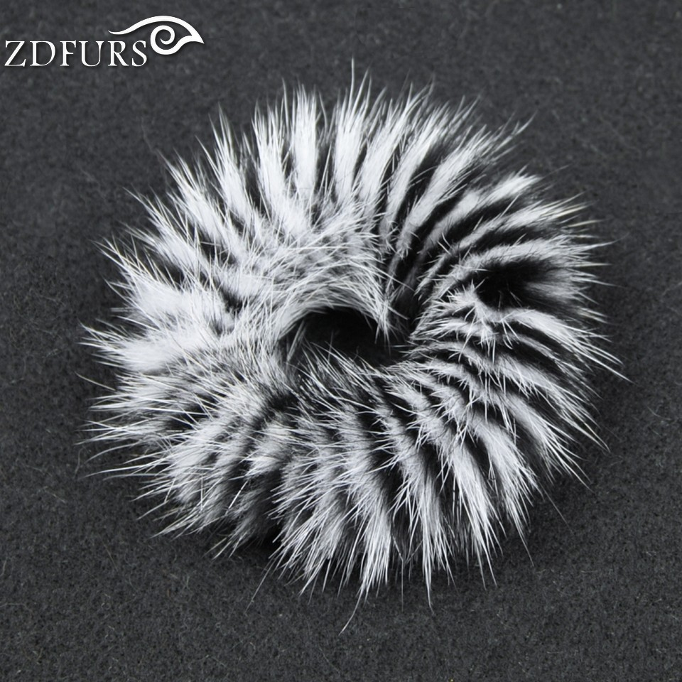 ZDFURS * high quality Real Genuine Mink Fur Hair Band Tail Accessories Woman Elastic Hair Rope girl hairwear Rubber ZDA-164024(China (Mainland))