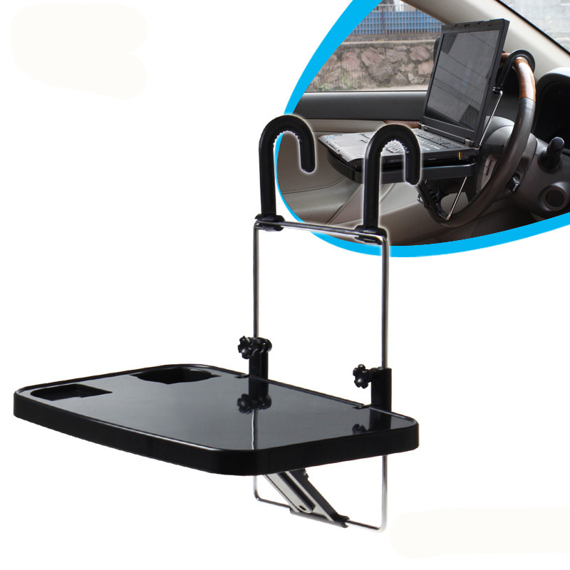Car laptop stand foldable car seat laptop tray table food for Stand pliant
