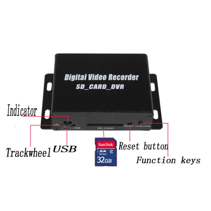 ! 1 ch mini sd card cctv dvr , av recorder support 32G tf loop recording