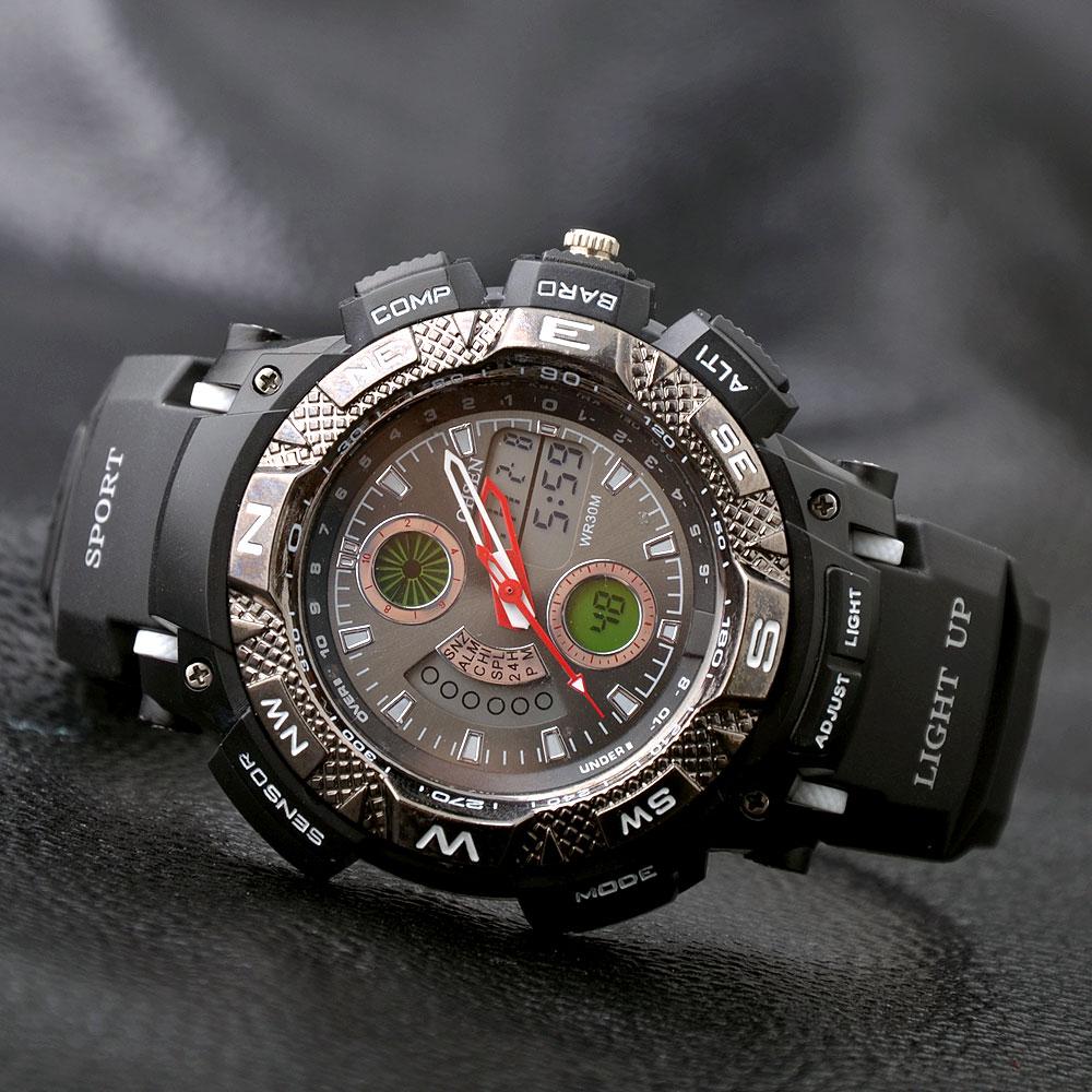 2015 Famous Brand Ohsen Fashion Men Waterproof Diving Casual Sport Watch For Men Women LED Digital