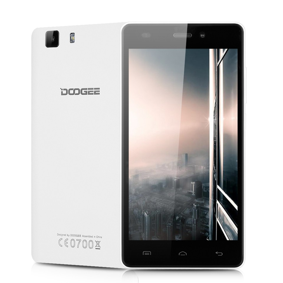 Original New DOOGEE X5 5.0Inch MT6580 Quad Core 1.3GHZ Android 5.1 Mobile Phone Dual SIM Cell Phones 1G RAM+8G ROM Smart Phone