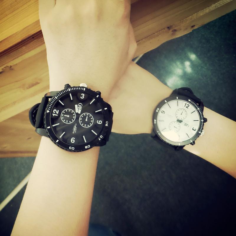 100% QF High Quality Black Army Sport Quartz Soft Rubber Big Dial Quartz Wrist Watch Clock Gift for Men Boy Male NB003(China (Mainland))