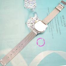 cat quartz Hello Kitty Watch women luxury fashion lady girl silver steel net band cute Wristwatch
