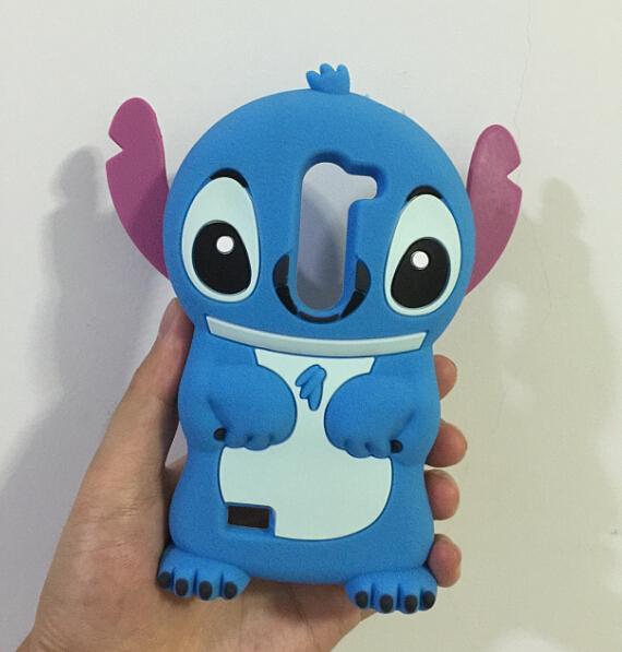 New Cute Stitch 3D Silicone Soft Cover Back Case LG Leon 4G LTE H340N C50 - ALEX ZHOU Store store