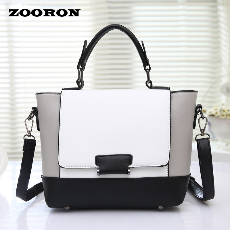 Bags with 2016 new color spring women handbags fashion style single shoulder bag women leather messenger bags(China (Mainland))