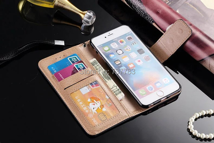 Luxury Fashion Magnetic Buckle Wallet Leather Flip cover For iPhone 7 6 6s plus 5 5s SE Galaxy Note7 S7 S6 edge plus Brands case