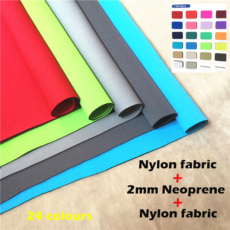 NYLON NEOPRENE fabric two sides double coated nylon N fabric for Diving suit surfing fishing suit protective accessory bag color(China (Mainland))