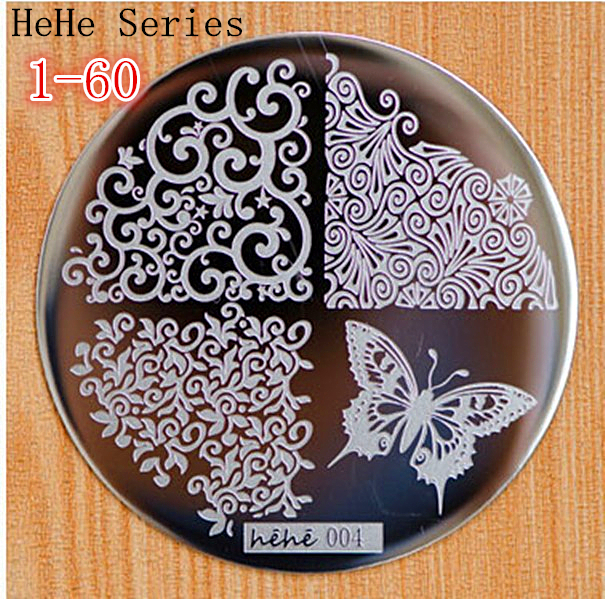 Cut Butterfly Flower Pattern etc 60 Design Plate hehe 1-60 Series Nail Art Image Konad Print Stamp Stamping Manicure Template(China (Mainland))