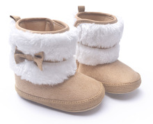 2015 New Fashion Super Warm Winter Baby Ankle Snow Boots Infant Shoes Khaki Antiskid Keep Warm Baby Shoes First Walkers(China (Mainland))