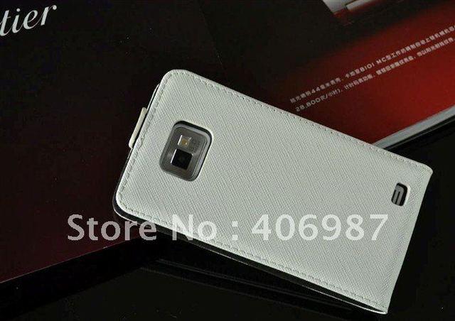 Original Faddist cross pattern leather case For samsung galaxy s2 i9100 handbags smartphone perfume 10pcs/lot