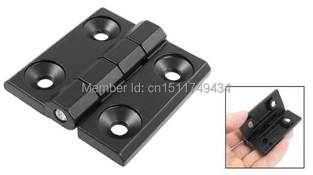 60mm x 60mm Countersunk Hole Aluminum Cabinet Ball Bearing Hinge Black 2pcs(China (Mainland))