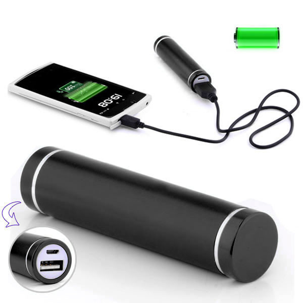 3000mah portable cylinder emergency charger power bank stick for mobile(China (Mainland))