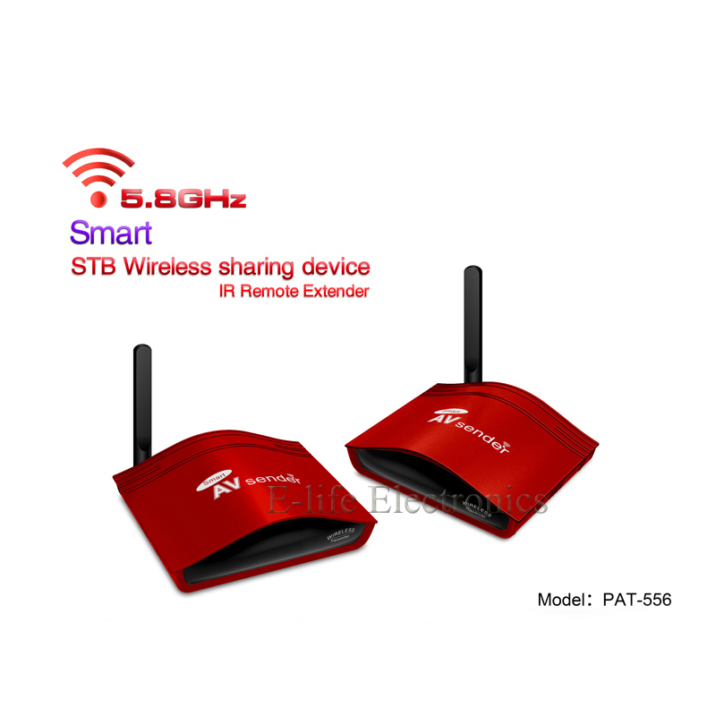 5.8G Smart The set-top box Wireless Sharing Device Transmitter and Receiver AV Sender With IR Remote Model:PAT-556(China (Mainland))