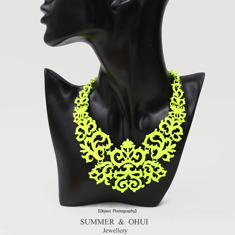 Fashion Fluorescence Yellow /Green /Orange Color Crown Statement Choker Necklace(China (Mainland))