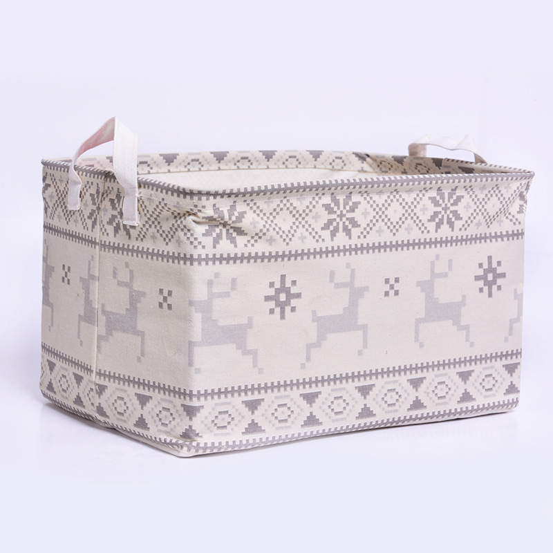 Big size Clothing toy makeup organizador basket Collapsible Laundry canvas printing folding storage box maquillage container(China (Mainland))