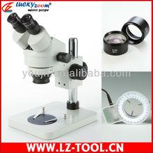 3.5X – 45X estudiante microscopio estéreo del zumbido, binocular microscopio + 56 led light + envío gratuito