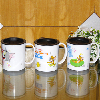FREE SHIPPING Wholesale 6PCS/LOT Licensed Tom&Jerry 260ml BPA free kids plastic tea cup home lunch mugs