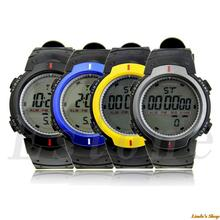Fashion Waterproof Men's LCD Digital Stopwatch Date Rubber Sport Wrist Watch Free Shipping