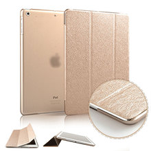 Slim Silk Smart Case for ipad air 2 / air 1 Flip Ultra Thin Leather Stand Cover for Apple Ipad 5 6 for Ipad Mini 3 2 1 Sleep/UP